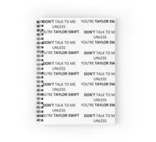 Taylor Swift Notebook Spiral Notebook