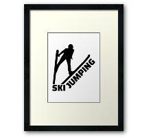 Ski jumping Framed Print