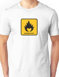 Flammable Heart Unisex T-Shirt