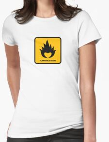 Flammable Heart Womens Fitted T-Shirt