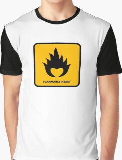 Flammable Heart Graphic T-Shirt