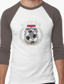 Croatia Soccer 2016 Fan Gear Men's Baseball ¾ T-Shirt