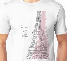 La Vie Est Belle Quote Design Unisex T-Shirt