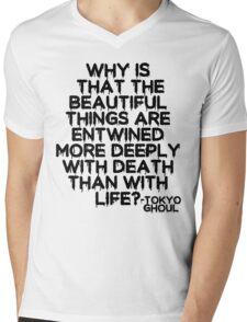 Tokyo Ghoul Quote v2 Mens V-Neck T-Shirt