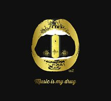 Music is my drug gold Unisex T-Shirt