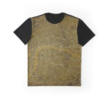 London Steampunk Map Graphic T-Shirt