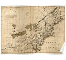 American Revolutionary War Era Maps 1750-1786 144 A new and accurate map of part of North America comprehending the provinces of New England New York Poster