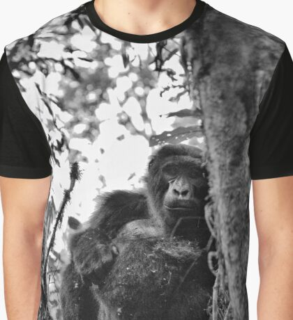"""Watchful Eyes of a good Friend"" (B&W) Graphic T-Shirt"