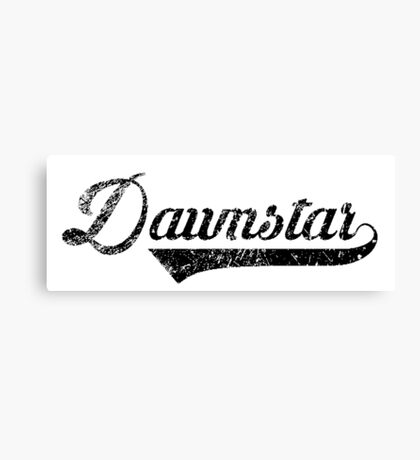 Skyrim Dawnstar Distressed Sports Lettering Canvas Print