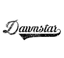 Skyrim Dawnstar Distressed Sports Lettering Photographic Print