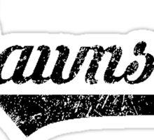 Skyrim Dawnstar Distressed Sports Lettering Sticker