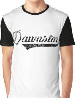 Skyrim Dawnstar Distressed Sports Lettering Graphic T-Shirt
