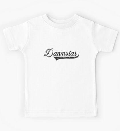 Skyrim Dawnstar Distressed Sports Lettering Kids Tee