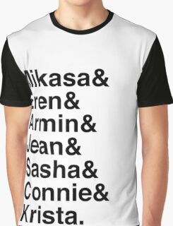 Mikasa & Eren & Armin & Jean & Sasha & Connie & Krista. (Attack on Titan) Graphic T-Shirt
