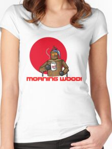 Good Morning Wood!!! Women's Fitted Scoop T-Shirt