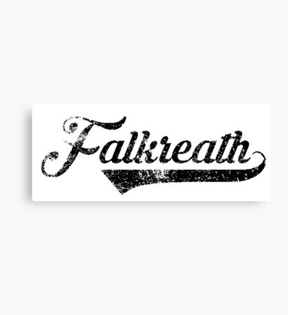 Skyrim Falkreath Distressed Sports Lettering Canvas Print