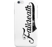 Skyrim Falkreath Distressed Sports Lettering iPhone Case/Skin