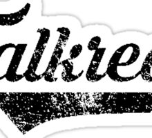 Skyrim Falkreath Distressed Sports Lettering Sticker