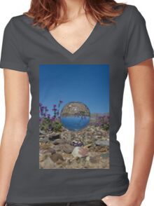 Strange Sighting in Death Valley Women's Fitted V-Neck T-Shirt
