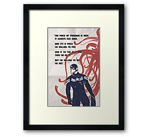 WS quote Framed Print
