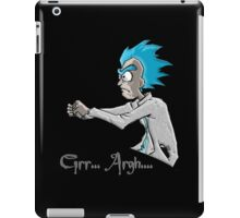 Grrrr Arrrr Zombie - Rick Morty iPad Case/Skin