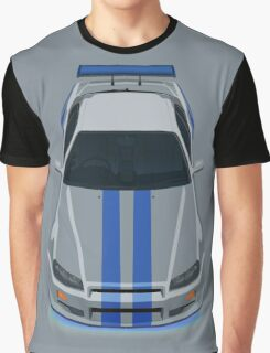 Fast and Furious Nissan Skyline GTR R34 Graphic T-Shirt