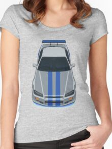 Fast and Furious Nissan Skyline GTR R34 Women's Fitted Scoop T-Shirt