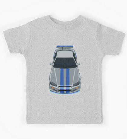 Fast and Furious Nissan Skyline GTR R34 Kids Tee