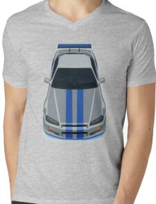 Fast and Furious Nissan Skyline GTR R34 Mens V-Neck T-Shirt