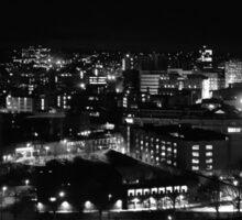 Cityscape at Night Sticker