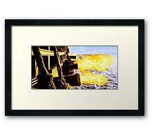Man Made Dragons Framed Print
