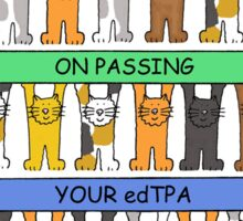 Congratulations on passing your edTPA Sticker