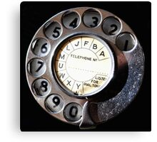 Telephone Nostalgia Canvas Print