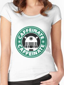 CAFFEINATE!!! Women's Fitted Scoop T-Shirt