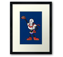 Undertale - Papyrus with spaghetti Framed Print