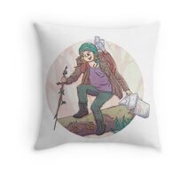 Portrait of a Traveler Throw Pillow