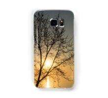 A Filigree of Branches Framing the Sunrise Samsung Galaxy Case/Skin