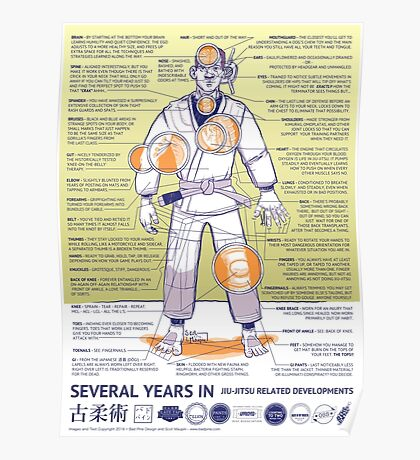 BJJ - Several Years In - Yellow Poster