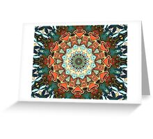 Concentric Abstract Symmetry Greeting Card