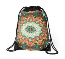 Concentric Abstract Symmetry Drawstring Bag