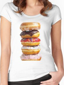 DONUT STACK Women's Fitted Scoop T-Shirt