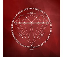 Red Diamond Photographic Print