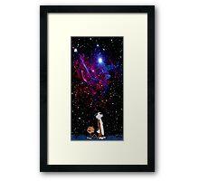 calvin and hobbes nebula  Framed Print