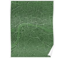 LONDON MAP, GREEN Poster