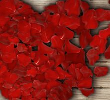 rose heart 3 Sticker