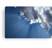 Blue Sky and Sun Rays Canvas Print