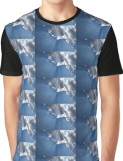 Blue Sky and Sun Rays Graphic T-Shirt