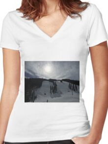 Ripsaw in Beaver Creek, CO Women's Fitted V-Neck T-Shirt
