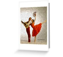 Childhood Memories: Flamenco Ballet Greeting Card