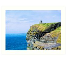 O'Brien's Tower on The Cliffs of Moher Art Print